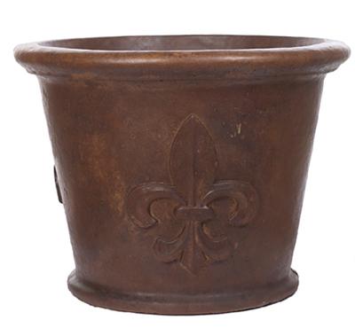 XL Plain Rim Fleur De Leis Pot