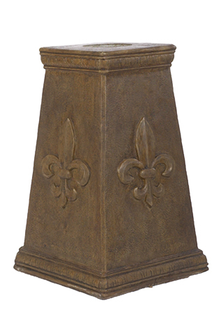 Tapered Column Fleur De Leis Pedestal