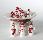 Red and White Snowman in hat